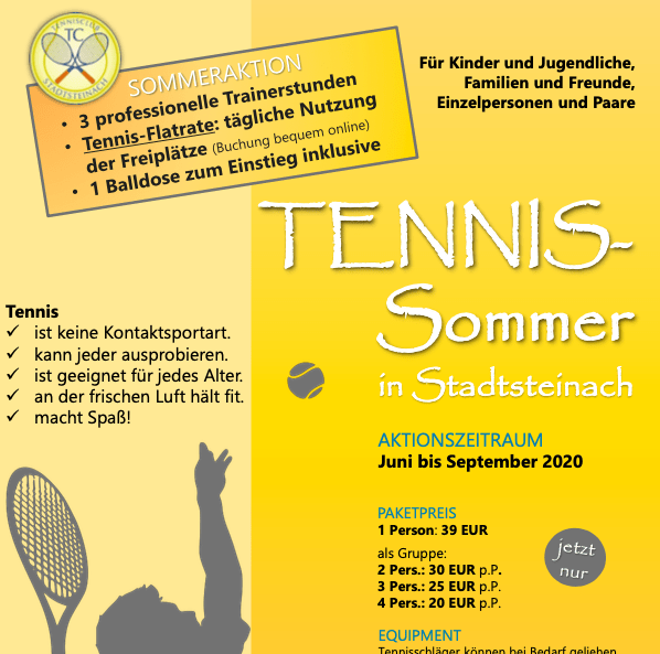 Aktion Tennissommer in Stadtsteinach