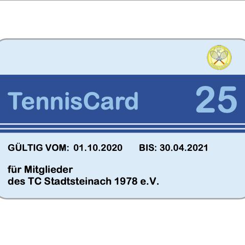 TennisCard 25